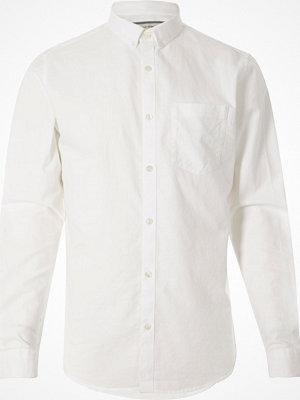 Skjortor - River Island White long sleeve Oxford shirt