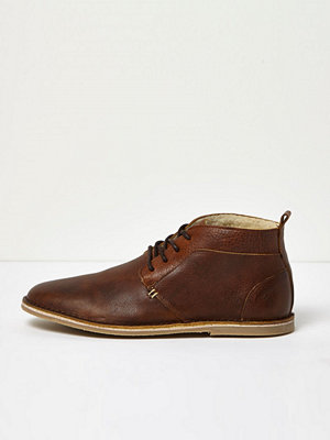 Boots & kängor - River Island Brown borg lined leather desert boots