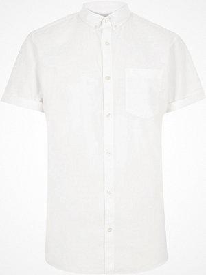 Skjortor - River Island White short sleeve Oxford shirt