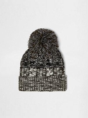 River Island Khaki twist knit bobble hat