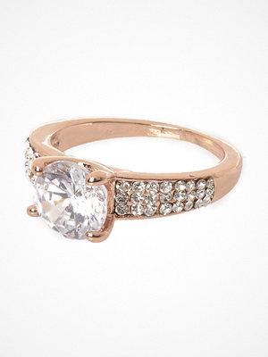 River Island Cubic zirconia rose Gold tone diamante ring