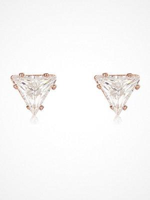 River Island örhängen Rose Gold tone triangle stud earrings