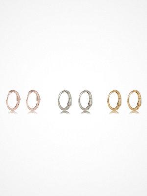 River Island örhängen Rose Gold tone hoop earrings pack