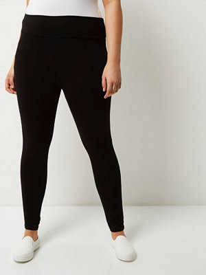 River Island Plus Black high rise leggings