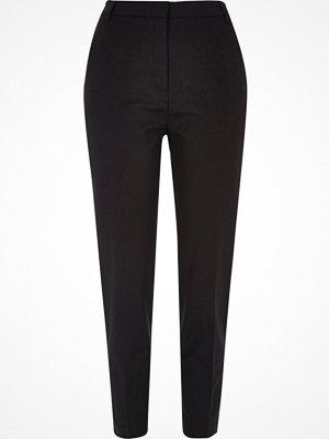 River Island Black slim tapered smart trousers