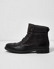Boots & kängor - River Island Grey leather work boots