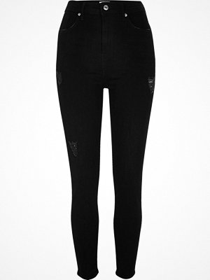 River Island Black Harper high waisted skinny jeans