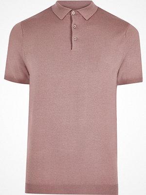 River Island Pink slim fit polo shirt