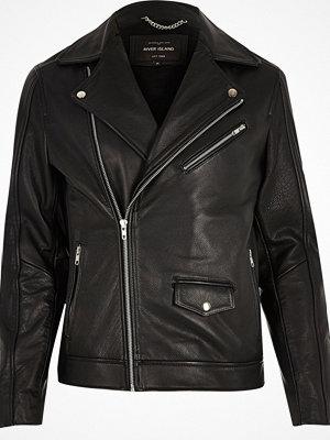 River Island Black leather biker jacket