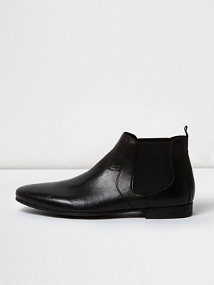 Boots & kängor - River Island Black leather Chelsea boots