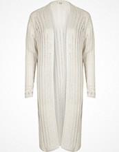 River Island White ribbed knit cardigan