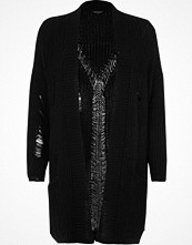 River Island Black ribbed knit long cardigan