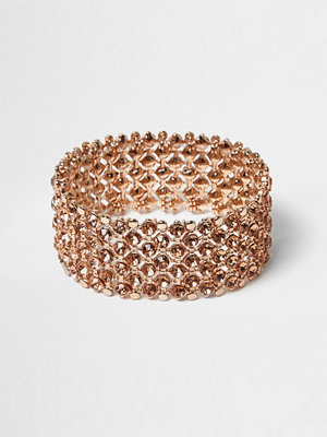 River Island armband Rose Gold crystal embellished bracelet