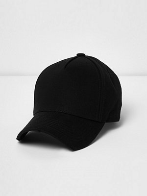 Mössor - River Island Washed Black baseball cap
