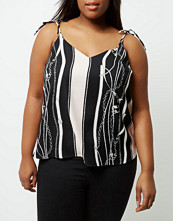 River Island Plus black chain print cami top