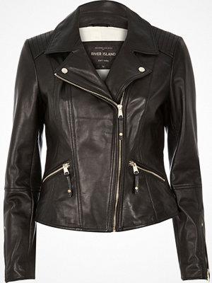 River Island River Island Womens Black leather biker jacket