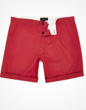 Shorts & kortbyxor - River Island Red slim fit turn up shorts