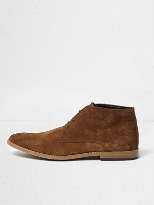 Boots & kängor - River Island Tan suede chukka boots