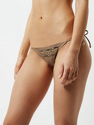 River Island Khaki brown beaded string bikini bottoms