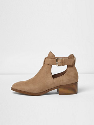 Boots & kängor - River Island Beige cut out ankle boots