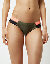 River Island Khaki panel stripe bikini bottoms