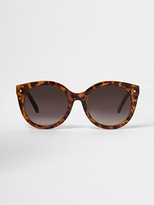 Solglasögon - River Island Brown tortoiseshell cat eye sunglasses
