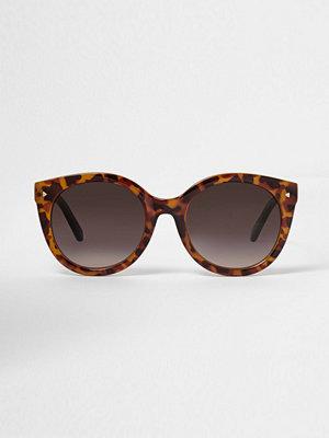 River Island Brown tortoiseshell cat eye sunglasses