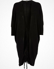 River Island Black knit ruched back longline cardigan