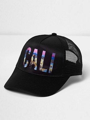 Mössor - River Island River Island Mens Black mesh back Cali baseball cap