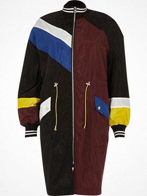 River Island Black colour block anorak coat