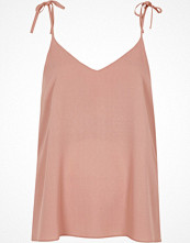 River Island Dark pink bow shoulder cami top