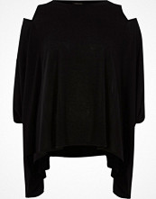River Island Black cut out loose top