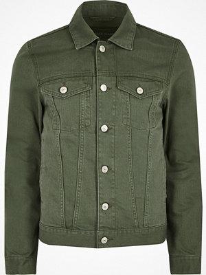 River Island Dark Green denim jacket