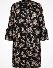 River Island Plus black floral print duster coat