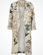 River Island Grey floral print duster coat