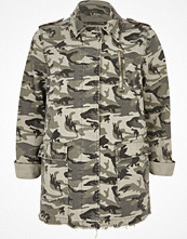 River Island Khaki green camo army jacket