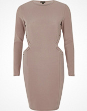 River Island Pink cut out eyelet bodycon dress