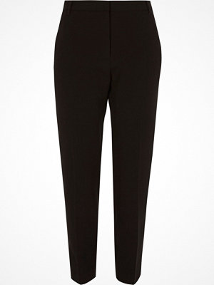 River Island Black tapered smart trousers