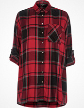 River Island Red check oversized shirt