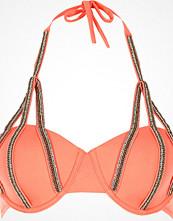 River Island Coral embellished balconette bikini top