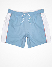 Badkläder - River Island Blue colour block swim shorts