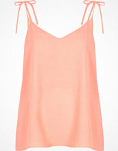 River Island Pink bow shoulder cami top