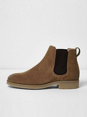 Boots & kängor - River Island Stone suede Chelsea boots