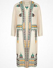 River Island Cream sheer embroidered duster jacket