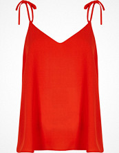 River Island Red bow shoulder cami top