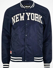 Jackor - River Island Blue Schott 'New York' bomber jacket