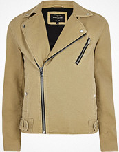 Jackor - River Island Light brown biker jacket