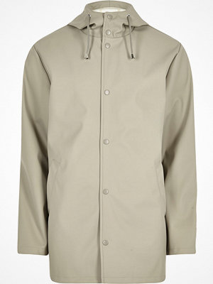 Jackor - River Island Light stone hooded jacket