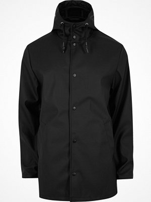 River Island Black hooded jacket