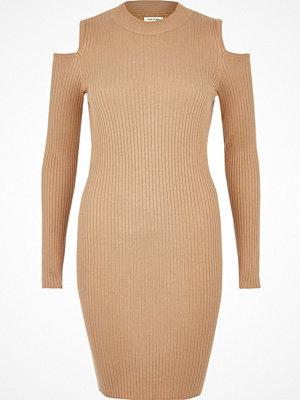 River Island Light brown cold shoulder dress
